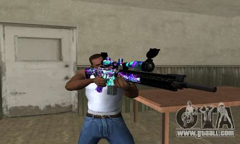 Automatic Sniper Rifle for GTA San Andreas third screenshot