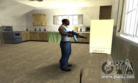 Blue Scan AK-47 for GTA San Andreas third screenshot