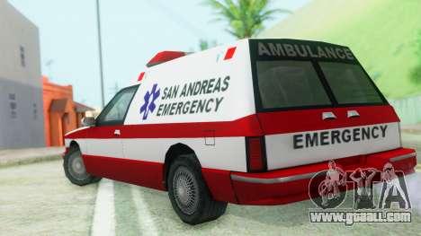 Premier Ambulance for GTA San Andreas left view