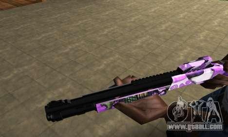Purple World Shotgun for GTA San Andreas second screenshot
