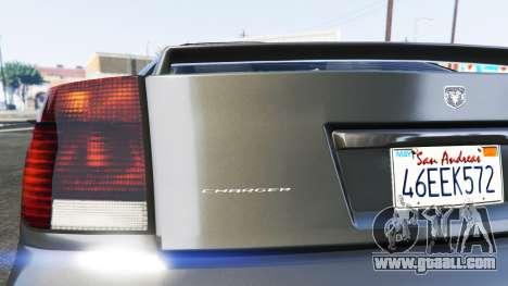 GTA 5 Bravado Buffalo Dodge Charger back view