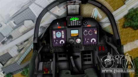 Embraer EMB-314 Super Tucano (FAP) for GTA San Andreas back view