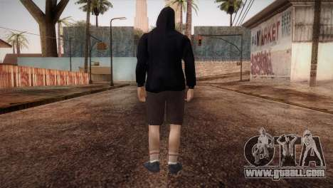 Mercenary mafia in the hood and mask for GTA San Andreas third screenshot