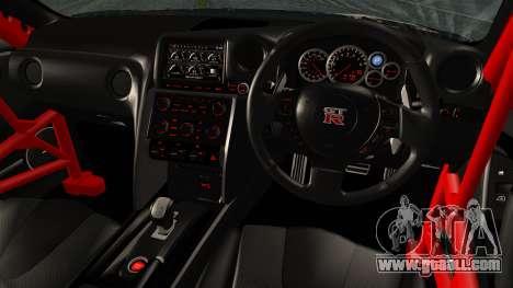 Nissan GT-R R35 Black Rock Shooter Itasha for GTA San Andreas back left view