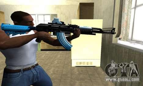 Blue Scan AK-47 for GTA San Andreas