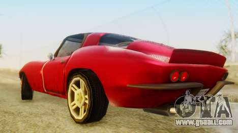 Chevrolet Corvette Sting Ray 427 SA Style for GTA San Andreas back left view