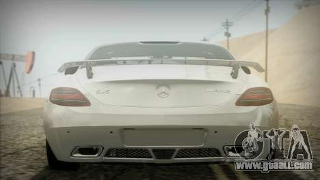 Mercedes-Benz SLS AMG 2013 for GTA San Andreas back view