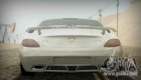 Mercedes-Benz SLS AMG 2013 for GTA San Andreas back view