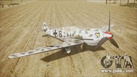 Messerschmitt BF-109 E-4 IJAAF for GTA San Andreas back left view