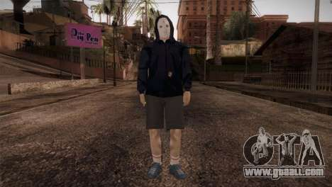 Mercenary mafia in the hood and mask for GTA San Andreas second screenshot