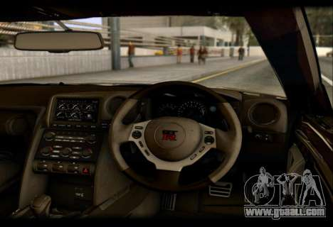 Nissan GTR-R35 Rocket Bunny for GTA San Andreas back view