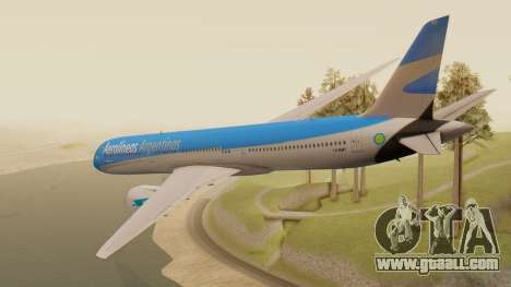Boening 737 Argentina Airlines for GTA San Andreas left view