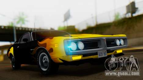 Dodge Charger Super Bee 426 Hemi (WS23) 1971 IVF for GTA San Andreas side view
