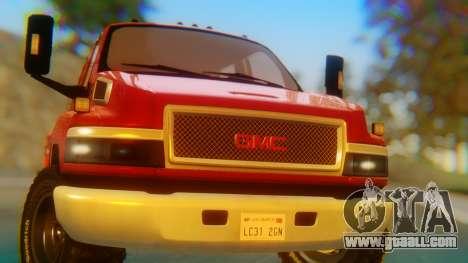 GMC Topkick C4500 for GTA San Andreas inner view