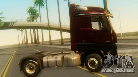 Mercedes-Benz Actros MP4 Stream Space Black for GTA San Andreas back left view
