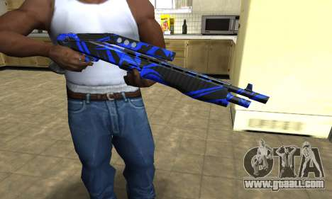 Blue Lines Combat Shotgun for GTA San Andreas