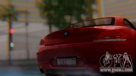BMW Z4 sDrive35is 2011 2 Extras for GTA San Andreas back view