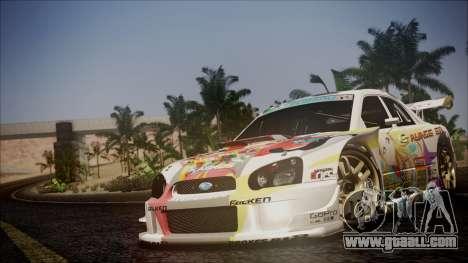 Subaru Impreza 2003 Love Live Muse Team Itasha for GTA San Andreas upper view