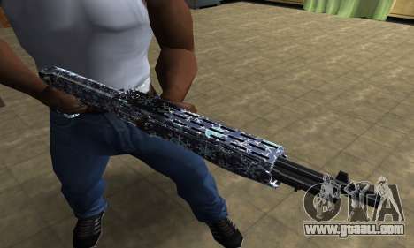 Snowflake Combat Shotgun for GTA San Andreas third screenshot
