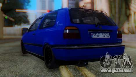 Volkswagen Golf 3 Pink Floyd for GTA San Andreas left view