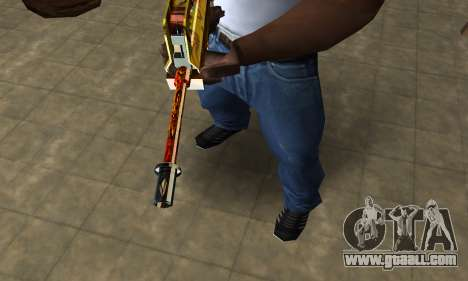 Golden AUG A3 for GTA San Andreas second screenshot
