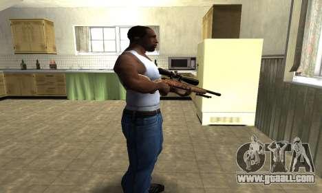 Gold Sniper Rifle for GTA San Andreas second screenshot