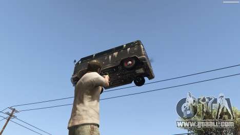 GTA 5 Gravity Gun 1.5 ninth screenshot