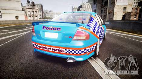 Ford Falcon BA XR8 Police [ELS] for GTA 4 back left view