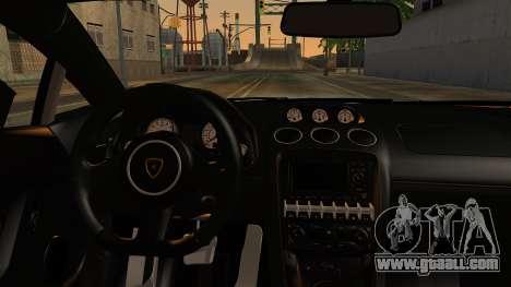 Lamborghini Gallardo Superleggera 2011 for GTA San Andreas back view