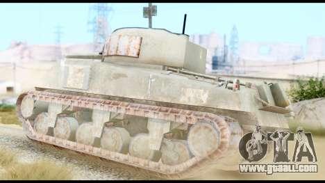 M4 Sherman 75mm Gun Urban for GTA San Andreas left view
