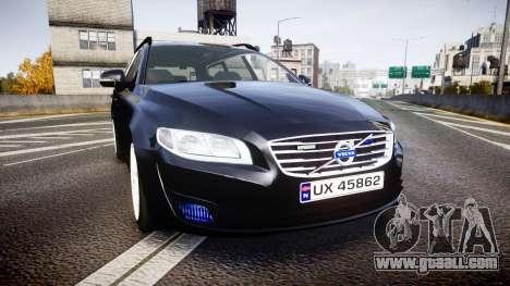 Volvo V70 2014 Unmarked Police [ELS] for GTA 4