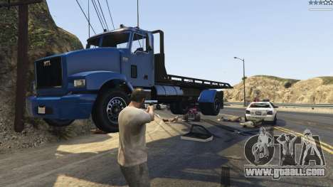 GTA 5 Gravity Gun 1.5 second screenshot