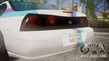 Chevrolet Impala FBI Slicktop for GTA San Andreas back view