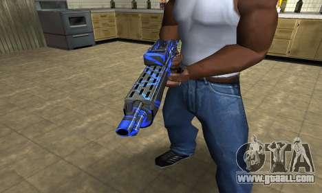 Blue Lines Combat Shotgun for GTA San Andreas second screenshot