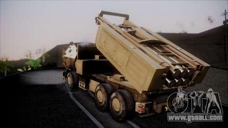 M142 HIMARS Desert Camo for GTA San Andreas left view