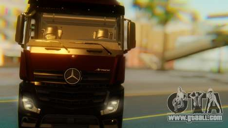 Mercedes-Benz Actros MP4 Stream Space Black for GTA San Andreas inner view