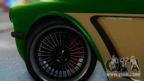 Invetero Coquette BlackFin v2 GTA 5 Plate for GTA San Andreas back left view