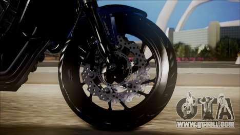 Honda CB650F Azul for GTA San Andreas back left view