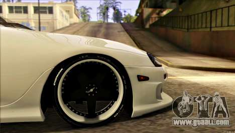 Toyota Supra 1998 E-Design for GTA San Andreas back view