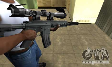 M4 with Optical Scope for GTA San Andreas