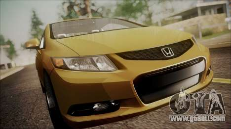 Honda Civic SI 2012 for GTA San Andreas back view