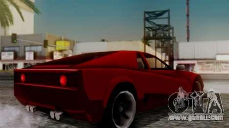Cheetah New Edition for GTA San Andreas left view