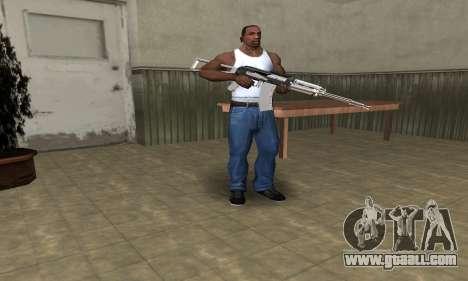 White with Black AK-47 for GTA San Andreas third screenshot