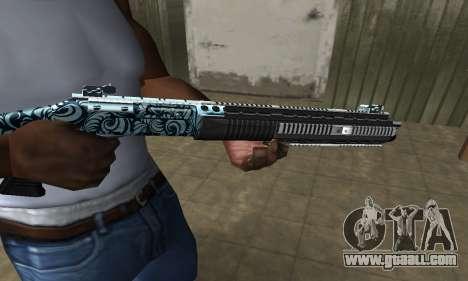Blue Snow Shotgun for GTA San Andreas