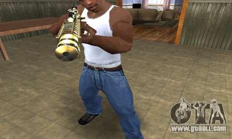 Gold Lines AK-47 for GTA San Andreas second screenshot