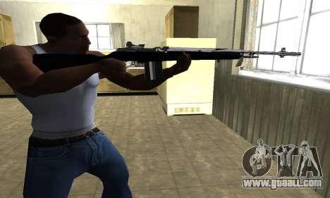 Full Black Rifle for GTA San Andreas second screenshot