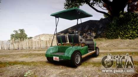 GTA V Nagasaki Caddy for GTA 4 back left view