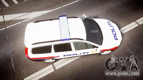 Volvo V70 2014 Norwegian Police [ELS] for GTA 4 right view
