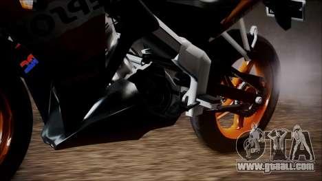 Honda CBR150R Repsol CBU for GTA San Andreas back left view