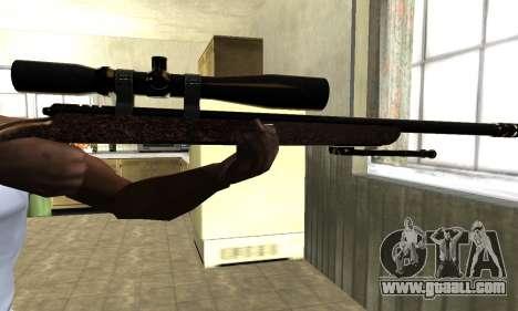 Gold Sniper Rifle for GTA San Andreas third screenshot